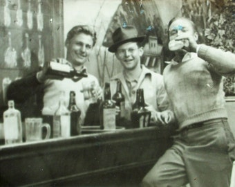 Postcard RPPC -  Boys' Night Out, Party On