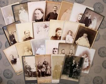 23 Cabinet Cards - Ladies, Gentlemen, & Children