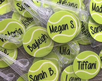 Tennis Bag Tag | Personalized Bag Tag | Tennis Gift | Birthday Gift | Monogrammed Bag Tag for Sports Bag | Tennis Ball Tag | Tennis Team Gif