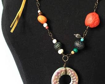 Moriah Necklace - Boho Jewelry, OOAK, Hippie Chic