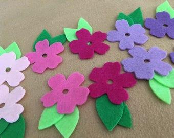 Felt Flowers-DIY Kits for Spring-Easter Crafts-Quiet Books-Impatiens Flower Garland-DecorationsBible Journals-Planner Pages-Quilt Appliques
