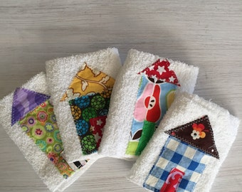 Little house wash cloth set of four