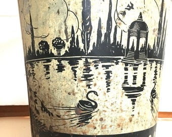 1920s Art Deco Trash Can