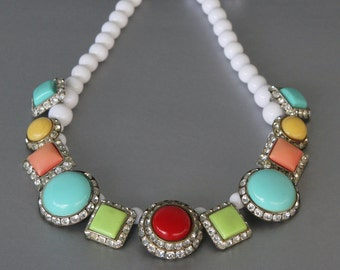Sweet as Candy Statement Necklace form Vintage Earrings