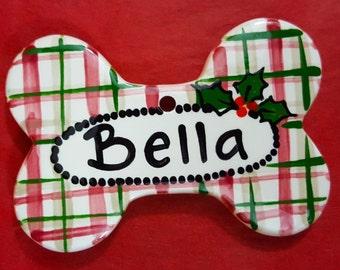 Christmas Ornament,Dog Bone Ornament,Dog Ornament,Cat Ornament,Personalized Ornament,Xmas Ornament,Christmas Gift,Christmas Swap, Bone