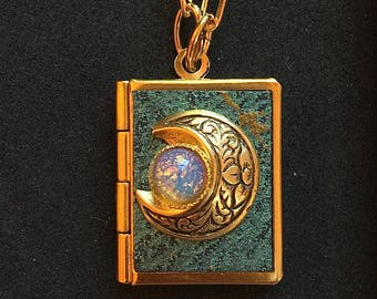New Moon Peace Book-turquoise and gold