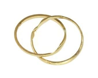 ON SALE Romantic Victorian gold wedding ring 18k yellow gold double rings secret hidden