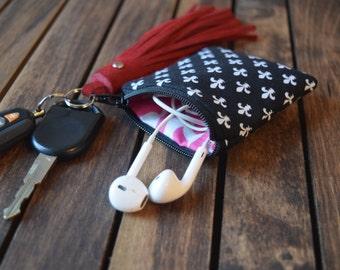 Ear Bud Pouch, Ear Bud Bag, Headphone Bag, Headphone Pouch