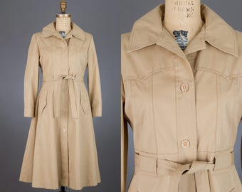vintage 1970s belted trench coat