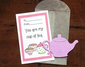 Teapot Valentines- SET OF 20 - Thank you for joining Grace in ONEderland!