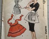 McCall's vintage apron pattern UNCUT sample pattern misses' or juniors' short apron Copyright 1958