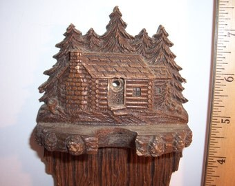 Vintage CABIN in the WOODS Pipe Stand/Display Stand - No Damage - USA Shipped Insured - Will Ship Int'l