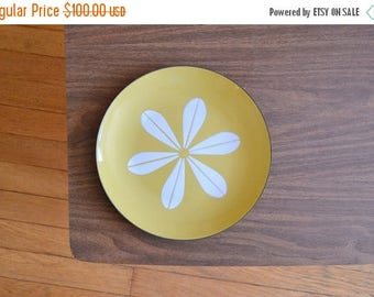 """SALE 25% OFF vintage midcentury modern olive green cathrineholm lotus plate - 10 1/4"""" / mothers day / mom"""