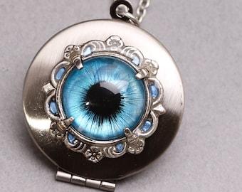 Evil Eye Necklace Eye Locket Picture Locket Photo Locket Necklace