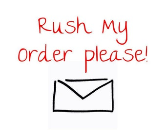 RUSH ORDER:  Add this to cart to get processed faster; per item; priority mail upgrade