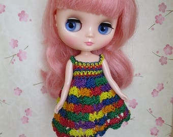 Middie Blythe Crochet Rainbow Dress.