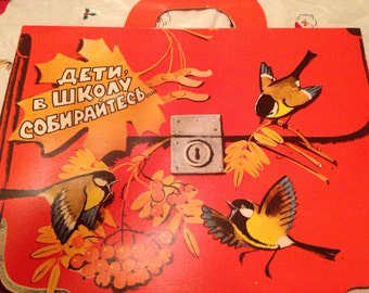 Vintage Russian Picture Book Reading arithmetic