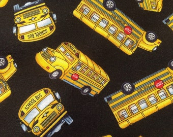 School Bus Cotton Quilting fabrics