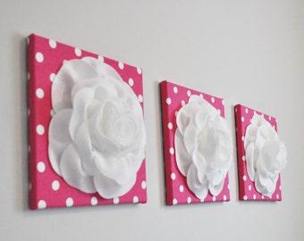 Wall Art Light Pink Dahlia On Gray And White Chevron 12