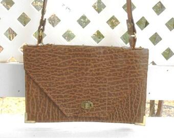 Vintage Handbags Leather Shoulder Bag Reptile Hide Leather Bag Leather Bag Womens Handbags