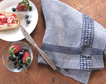 French Country Farmhouse Kitchen Towel Rustic Home Decor Chef Blue Coastal Cottage