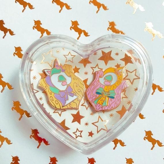 Unicorn and Deer Pin Duo
