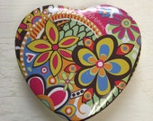 "Brighton ""Contempo"" Psychedelic Heart Tin UNDER 10"