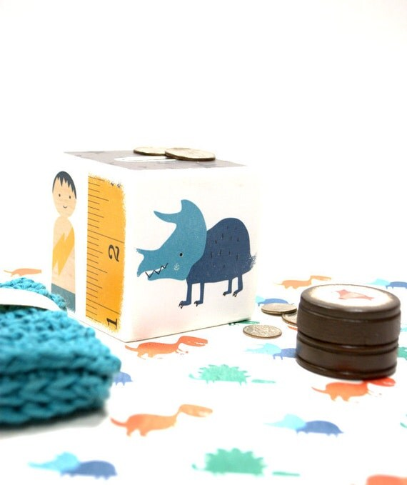 Items similar to cool kid piggy bank wooden banks money for Really cool piggy banks