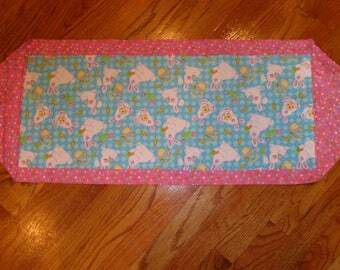 Quilted Table Runner, Spring, Easter
