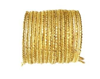 Gold Cuff Bracelet, beaded Cuff bracelet Long Cuff bracelet ,Womens bracelet ,birthday Gift, Gold Cuff bracelet Taneesi