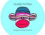 2 Sock Monkey Dolls