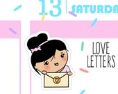 ON SALE Until 4.30.17 - Love Letters - Busy Bea Mail/Penpal/Shipping Planner Stickers