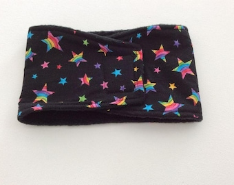 Dog Diaper - Male Dog Belly Band - Belly Wrap - Black with Rainbow Stars - Available in all Sizes