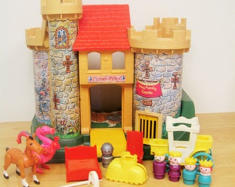 Vintage Fisher Price Little People Castle with Accessories