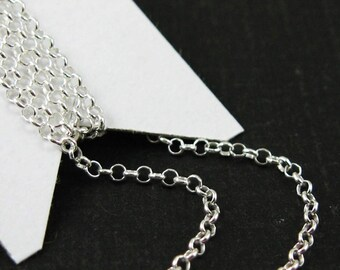 Sterling Silver Bulk Chain , Unfinished Chains-1mm Rolo Chain-Tiny Rolo-25% OFF-WHOLESALE CHAINS- Discount Silver Chains- 100ft-Sku: 101016W