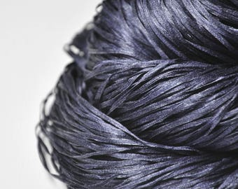 Dark night's wish OOAK - Silk Tape Lace Yarn - SUMMER EDITION