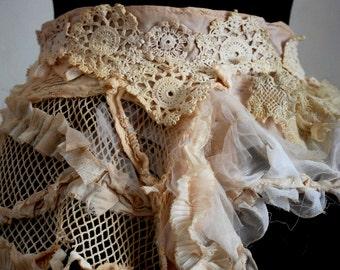 Belt, sash, steampunk, victorian, Jane Austen, shabby chic, lace belt, romance, wedding, bridal, faerie, tatter punk, vintage romance,love