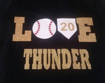 Love Baseball Shirt, Love Baseball Player Shirt, Baseball Mom Shirt, Baseball Mom Tank, Baseball Shirt, Softball Mom Shirt, Softball Shirt