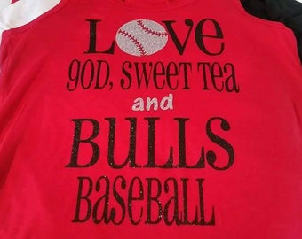 Love God Sweet Tea and Baseball Shirt, Baseball Shirt, Love God and Baseball Shirt, Woman's Baseball Shirt, Funny Baseball Shirt,