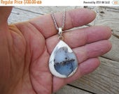 ON SALE Dendrite opal necklace in sterling silver