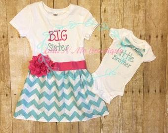 Sibling set, big sister little brother set, l