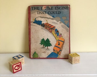 Antique Children's Book, The Little Engine That  Could, Classic Kid's Story. 1930's Illustrations, Sold As Is