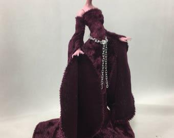 Cranberry Velvet Medieval Set for Your Monster High Doll