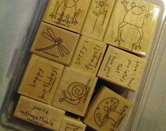 Unfrogettable Stamp Set,  Set of 11 Stamps,  Stampin'Up, Retired, New Condition