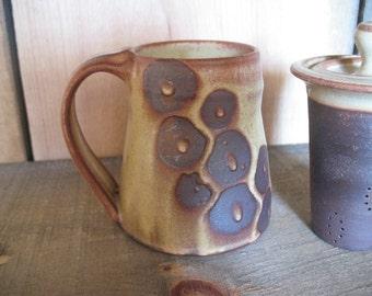 Mug, Cup 14 ounces, hand thrown stoneware by Jennie Blair