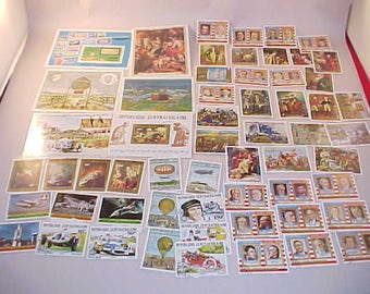 58 Postage Stamps From Republic of Central Afrika and Equatorial Guinea all Postmarked