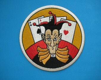 Big Iron-on Embroidered Patch Joker 5.25 inch