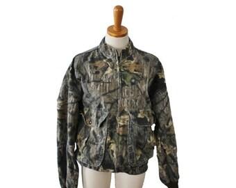 sale // Vintage 80s Mossy Oak Camouflage Jacket // Men Medium // made in America, hunting gear