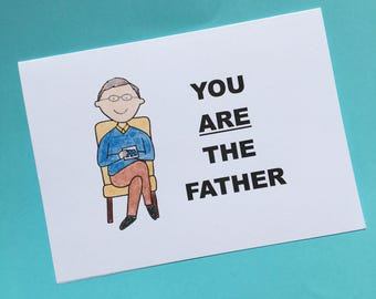 Maury Povich - You Are The Father Card - Father's Day - Dad Card - Pregnancy Announcement - Funny Greet Card - Card for Dad - Father-to-Be