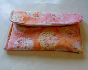 Orange Batik Clutch